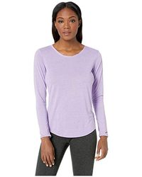 Brooks Distance Long Sleeve Top (heather Lilac) Long Sleeve Pullover