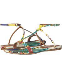 Etro - Ikat Flat Sandal - Lyst