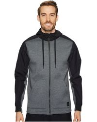 Reebok - Training Supply Full Zip Hoodie (dark Grey Heather) Men's Sweatshirt - Lyst