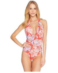 a0e33f4932a92 Volcom Simply Solid Tankini Top in Blue - Lyst