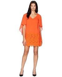 93adc92ce0b Lavish Alice Woven Asymmetric Draped Midi Dress In Tangerine Orange ...
