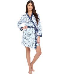 Oscar de la Renta - Printed Luxe Pima Cotton Jersey Wrap - Lyst