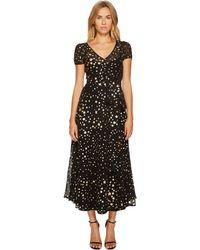 RED Valentino - Lame Stars Print, Silk Georgette Dress - Lyst