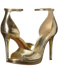 5679dc92dc32 Lyst - MICHAEL Michael Kors Patti Jeweled Platform Sandal in Gray