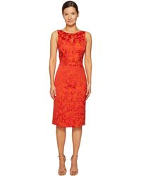 Zac Posen - Party Jacquard Sleeveless Dress - Lyst