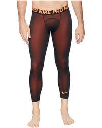 582419896de28 Lyst - Nike Pro Tights 3/4 2l Camo in Black for Men