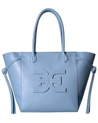c654b1e37d Sam Edelman Delilah Leather Tote Bag in Blue - Lyst