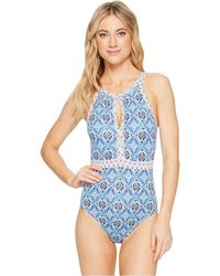 Tommy Bahama - Tika Tiles High-neck One-piece Swimsuit - Lyst