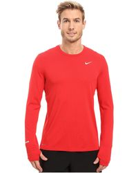 Nike | Dri-fit™ Contour L/s Running Shirt | Lyst