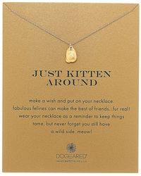 Dogeared   Just Kitten Around Reminder Necklace   Lyst