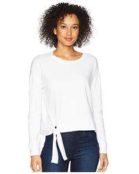 Mod-o-doc - Cotton Modal Spandex French Terry Drop Shoulder Sweatshirt With Tie (white) Sweatshirt - Lyst