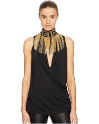 Versace - Donna Jersey Sleeveless Top - Lyst