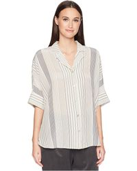 e1f866a3ff3 Eileen Fisher - Classic Collar Top - Lyst