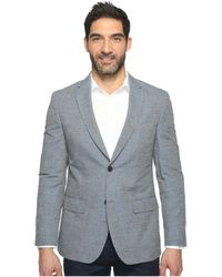 Perry Ellis | Slim Fit End On End Linen Jacket | Lyst