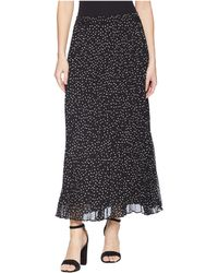 Chaps - Polka-dot Pleated Georgette Skirt - Lyst