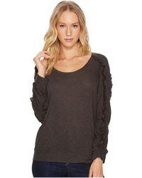 Lanston - Ruffle Long Sleeve Pullover Top - Lyst