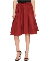 Jil Sander Navy - Faille Skirt With Drawstring Waist - Lyst