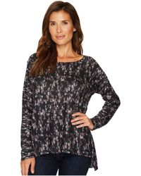Nally & Millie - Printed Brushed Sweater Top - Lyst