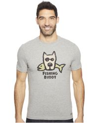 Life Is Good. - Fishing Buddy Crusher Tee - Lyst