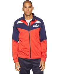 21a6388e0116 Lyst - PUMA Men s Full-zip Tricot Track Jacket in Blue for Men