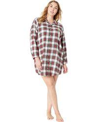 Plus Plaid Print Maxi Woven Sleep Shirt.  82. Dillard s · Lauren by Ralph  Lauren - Plus Size Brushed Twill His Shirt Sleepshirt - Lyst b8be7676e