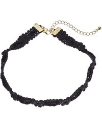 Steve Madden - Rope Knot Textured Choker Necklace - Lyst