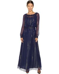 Versace Jeans | Long Sleeve Gown | Lyst