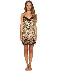 Dolce & Gabbana - Stretch Silk Lace Cheetah - Lyst