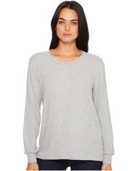Michael Stars | Super Soft Madison Rib Long Sleeve Scoop Neck Pullover | Lyst