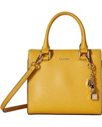Calvin Klein - Logan Mercury Leather Crossbody - Lyst
