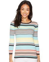 Vince Camuto - Long Sleeve Color Blocked Ribbed Sweater - Lyst