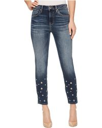 Mavi Jeans - Tess High-rise Ankle Super Skinny In Shaded Eyelet - Lyst