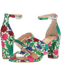 Jerome C. Rousseau - Abelline Floral Embroidered Block Heel Sandals - Lyst