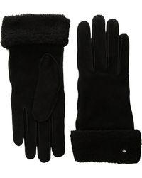 Lauren by Ralph Lauren - Shearling Cuff Glove With Thinsulate - Lyst