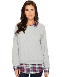 Mod-o-doc - Sweatshirt With Plaid Contrast - Lyst
