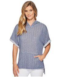 Mod-o-doc - Pointelle Stripe French Terry Dolman Sleeve Pullover Hoodie (blue) Sweatshirt - Lyst