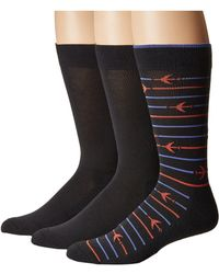 Hue - Striped Jetsetter Socks 3-pack - Lyst