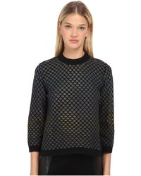 M Missoni - Large Pique Knit Long Sleeve Top - Lyst