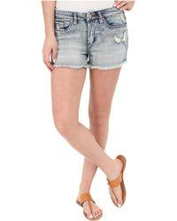 302e634972c7a Lyst - Luxe Essentials Cuffed Denim Maternity Shorts in Blue