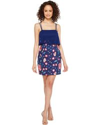 Aidan Mattox - Chiffon And Embroidered Popover With Skirt - Lyst