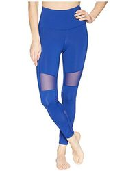 Reebok - Lux Mesh High-rise Tights (blue) Casual Pants - Lyst