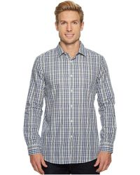 aaf2ac728a5 Lyst - Calvin Klein Micro Checked Cross Dobby Shirt in Blue for Men