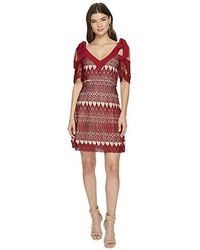 f71570611b1d Johnny Was Plus Size Mixed Berry Georgette Short-sleeve Shift Dress ...