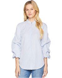 c384de099f3 Lyst - Lauren by Ralph Lauren Plus Size Floral Cotton-silk Shirt