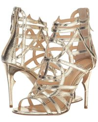 Jerome C. Rousseau - Metallic Leather Snake Stamp Heel - Lyst