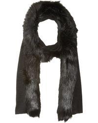 Lauren by Ralph Lauren | Fur Trimmed Jersey Scarf | Lyst