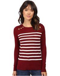 Kensie - Cotton Blend Sweater Ks9k5548 - Lyst