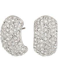 Nina - Pave Half Hoop Earrings - Lyst