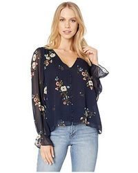 f91190e760bf23 Joie Gloria Silk Floral Print Blouse in Blue - Lyst