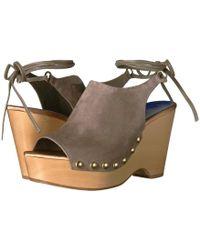 Diane von Furstenberg - Bali Suede Wedge Sandals - Lyst